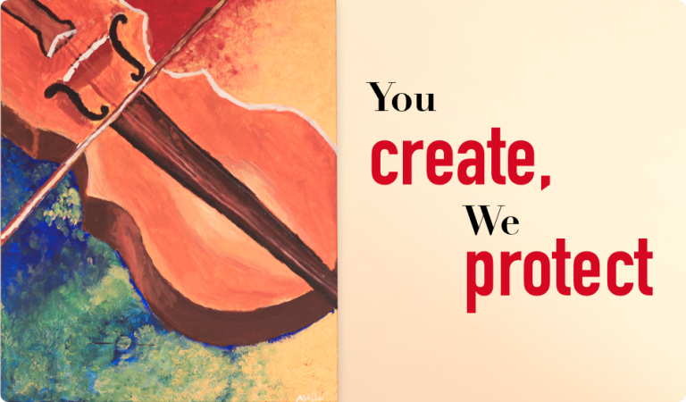 You create, We protect